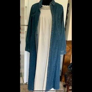 M Blue Denim Dress Or Long Coat if you like